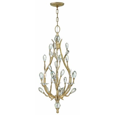Diandre 3-Light Crystal Chandelier