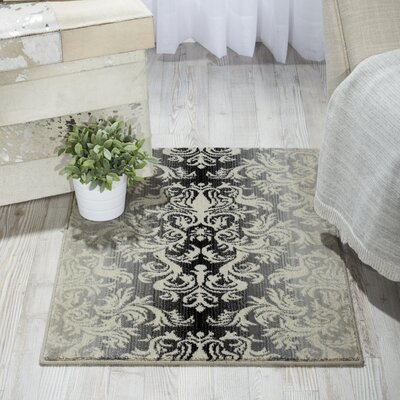 Rutha Charcoal Area Rug Rug Size: Rectangle 2 x 29