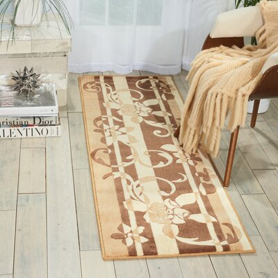 Hamblin Brown Area Rug Rug Size: Runner 2 x 59
