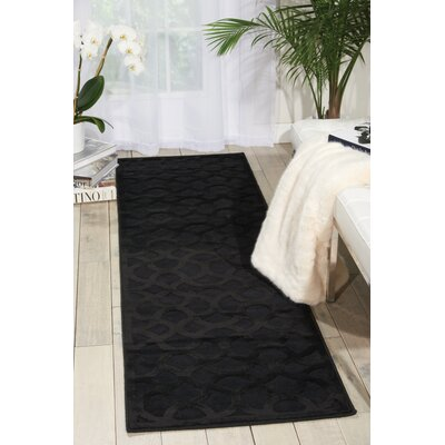 Blondelle Abstract Black Area Rug Rug Size: 53 x 73