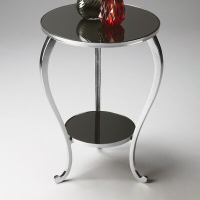 Roca Round End Table Finish: Nickel