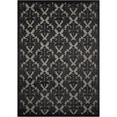 Hartz Gray/Black Area Rug Rug Size: Rectangle 76 x 96
