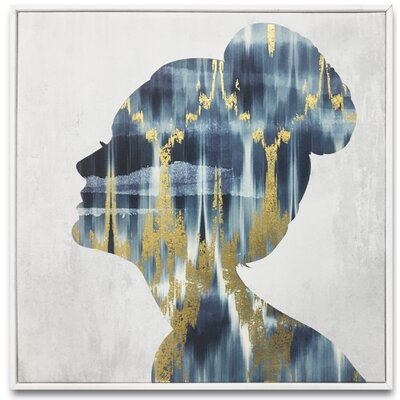 Ikat Luxe Built Framed Graphic Art on Wrapped Canvas