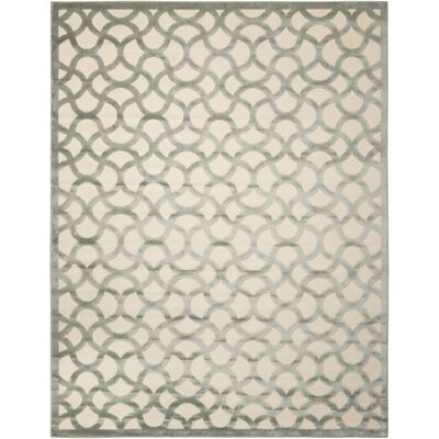 Blondelle Ivory/Aqua Area Rug Rug Size: Rectangle 36 x 56