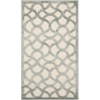 Blondelle Ivory/Aqua Area Rug Rug Size: Rectangle 22 x 39