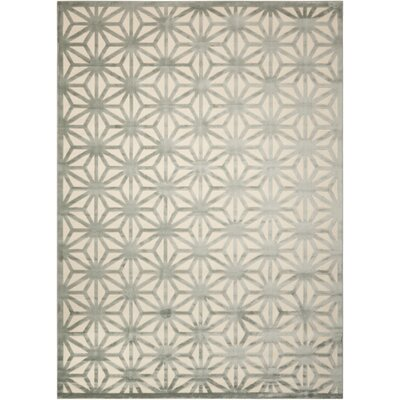 Stanhope Ivory/Aqua Area Rug Rug Size: Rectangle 76 x 96