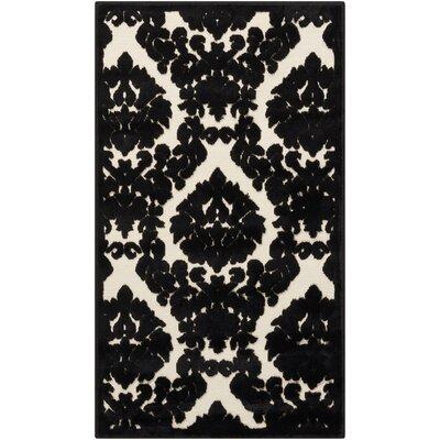 Hartz Ivory/Black Area Rug Rug Size: 22 x 39