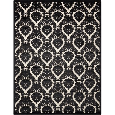 Hartz Ivory/Black Area Rug Rug Size: 36 x 56