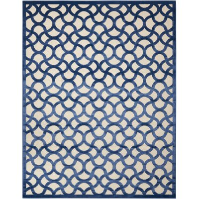 Stanhope Ivory/Blue Area Rug Rug Size: 79 x 1010
