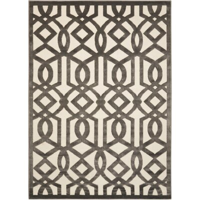 Hartz Ivory/Gray Area Rug Rug Size: 53 x 73