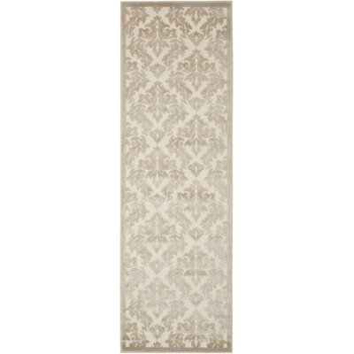 Hartz Ivory/Silver Area Rug Rug Size: Rectangle 76 x 96