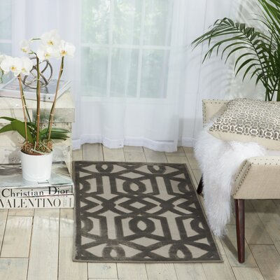 Hartz Beige/Gray Area Rug Rug Size: Rectangle 53 x 73