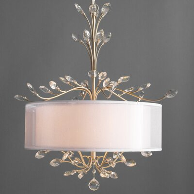 Turner 4-Light Drum Chandelier Finish: Aged Silver
