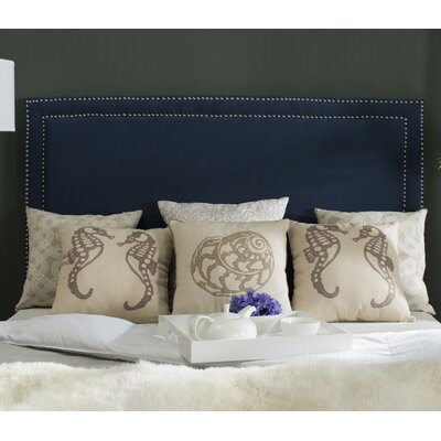 Ginger Upholstered Panel Headboard Upholstery: Navy, Size: Queen