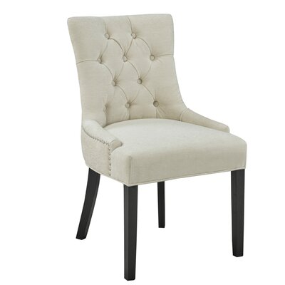 Raiden Upholstered Dining Chair Upholstery: Linen - Beige