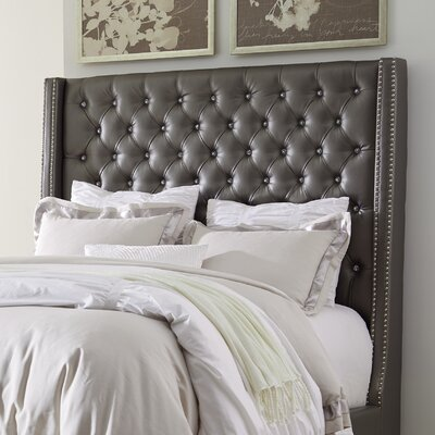Guillaume Modern Upholstered Panel Headboard Size: Queen
