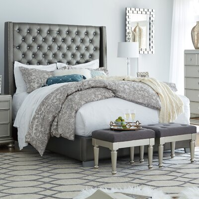 Guillaume Modern Upholstered Panel Bed