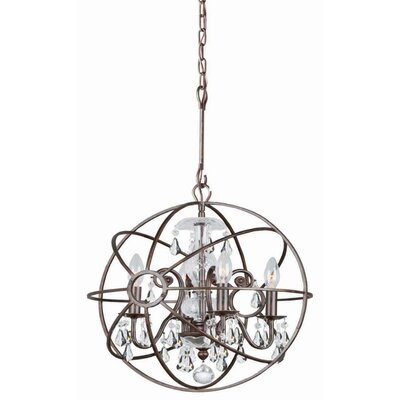 Rodrigues 4-Light Crystal Chandelier Finish: Olde Silver, Crystal Color: Clear Hand Cut
