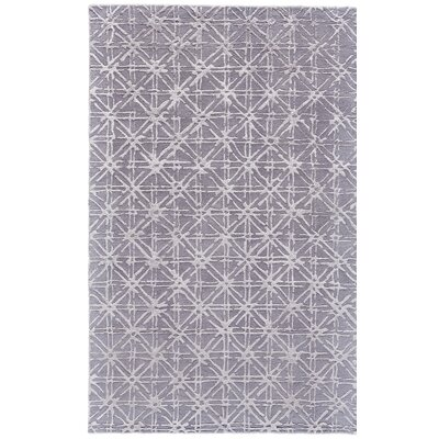 Gloria Hand-Tufted Gray/Silver Area Rug Rug Size: 5 x 8