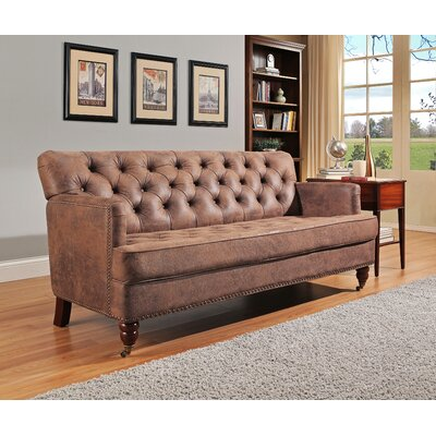 Chandlee Club Sofa Upholstery: Antique Brown