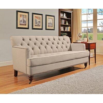 Jaliyah Club Sofa Upholstery: Beige