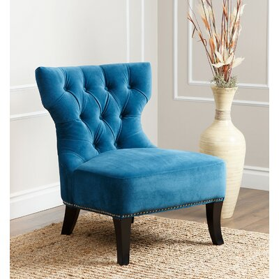 Taya Side Chair Upholstery: Petrol Blue