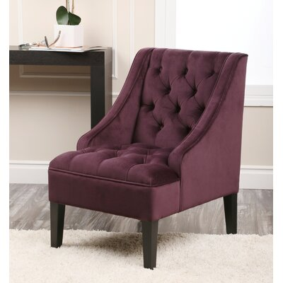 Judy Tufted Arm Chair Color: Purple
