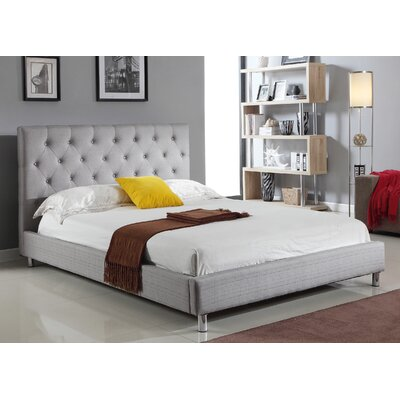 Isidora Upholstered Platform Bed Size: Queen, Upholstery: Grey