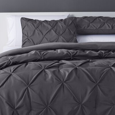 Bostic Comforter Set Color: Charcoal, Size: Twin