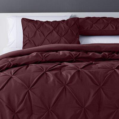 Bostic Comforter Set Size: Full, Color: Burgundy