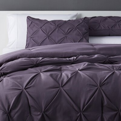 Bostic Comforter Set Size: California King, Color: Purple