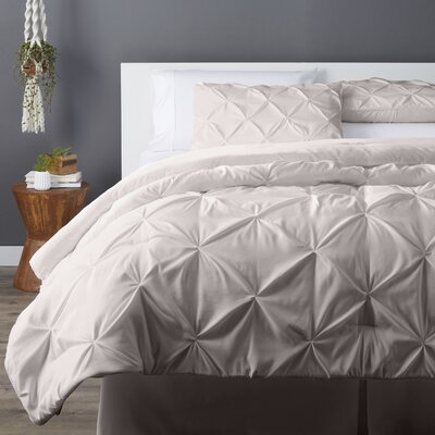 Bostic Comforter Set Size: Full, Color: Ivory