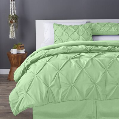Bostic Comforter Set Size: California King, Color: Mint