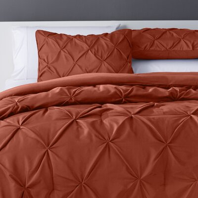 Bostic Comforter Set Size: King, Color: Orange