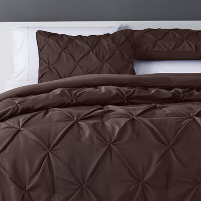 Bostic Comforter Set Size: Full, Color: Chocolate