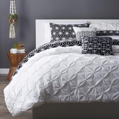 Novick Comforter Set Color: Black/White, Size: King