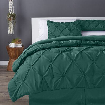 Bostic Comforter Set Size: Full, Color: Hunter Green