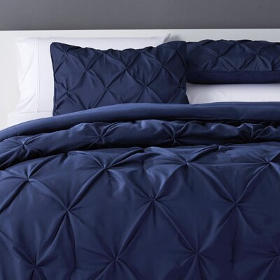 Bostic Comforter Set Size: Queen, Color: Navy Blue