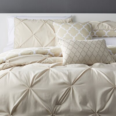 Amaratha 5 Piece Reversible Comforter Set Color: Taupe, Size: Queen