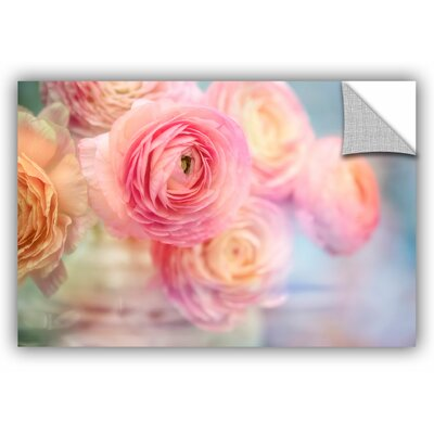 Glass Flowers Wall Decal Size: 12