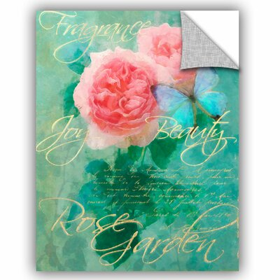 Whitney Rose Garden 1 Wall Decal Size: 10