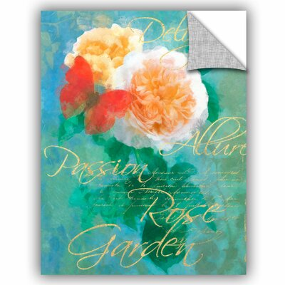 Whitney Rose Garden 2 Wall Decal Size: 10