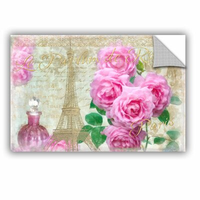 Whitney Parfum De Roses Wall Decal Size: 12