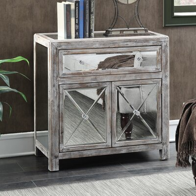 Wiscasset Mirrored Cabinet Finish: Weathered White