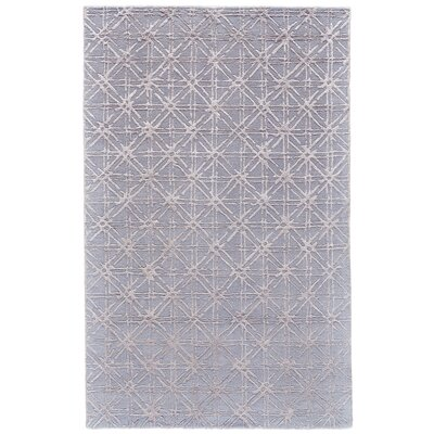 Gloria Hand-Tufted Blue/Beige Area Rug Rug Size: 96 x 136