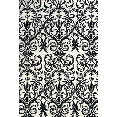 Josephine Ebony/White Area Rug Rug Size: 5 x 8