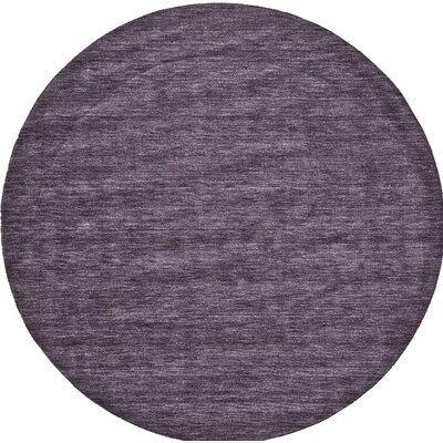 Diandra Hand-Loomed Purple Area Rug Rug Size: Round 8