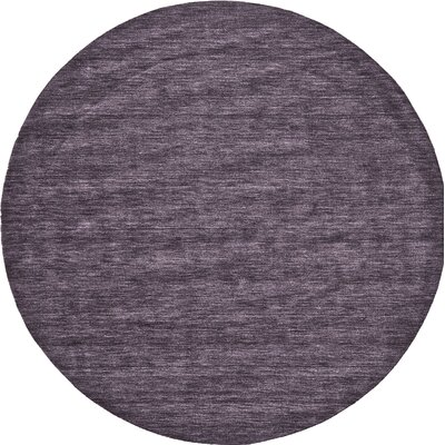 Diandra Hand-Loomed Purple Area Rug Rug Size: Round 10