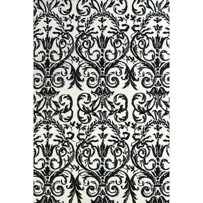 Josephine Ebony/White Area Rug Rug Size: 2 x 3