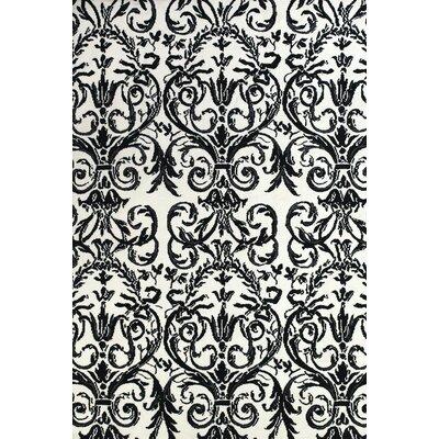 Josephine Ebony/White Area Rug Rug Size: 8 x 11
